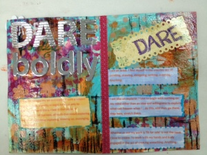 Art Journal: theme DARE