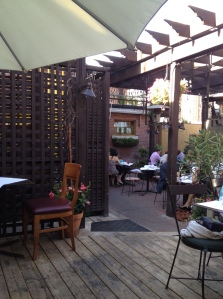 The patio at Bonterr