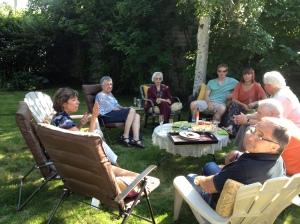 Enjoying family before dinner
