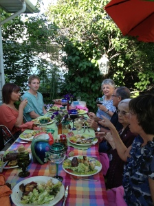 Good food. Good wine. Good company - and speaking French!
