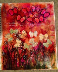 Art Journal August 24, 2014 The caterpillar cannot fly free, until it learns to spin its own dreams