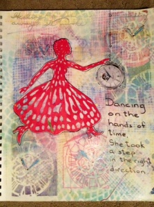 Art Journal August 23, 2014 Dancing on the hands of time