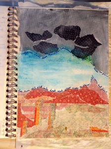Journal Entry, Wednesday, July 30, 2014  Mixed media on watercolour paper