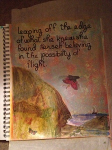 Art Journal Entry August 27, 2014 The Possibility of Flight
