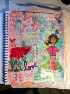 Exploring 1 Art Journal page August 12, 2014