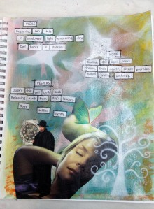 Art Journal Page Praying the Hours Collage