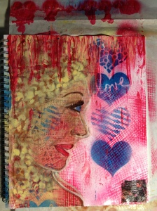 Art Journal Page Speak often the words of your heart.