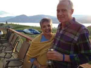 On the deck at Therapy Vineyards