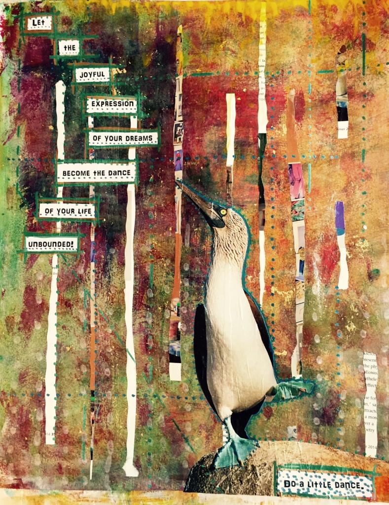 Dance Your Dreams Art Journal Jan 20, 2015 Mixed Media