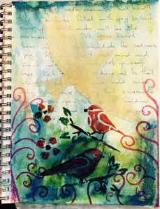 Let go of fear and hold onto Love Art Journal January 28, 2015