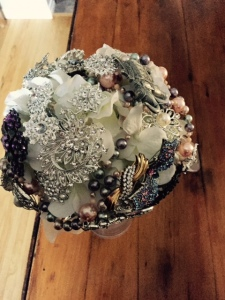 Brooch Bouquet --  A work in Progress