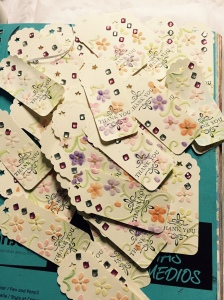 55 Thank you cards done. 15 more to go.