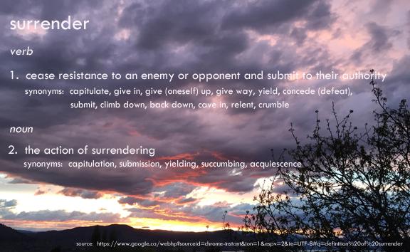 surrender copy