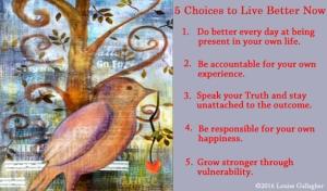 5 choices copy