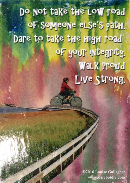 dare to take the high road copy