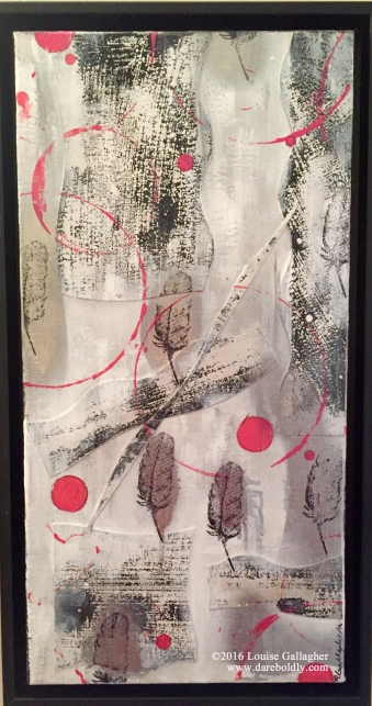 "Intersections Mixed media on canvas 10"" x 16"""