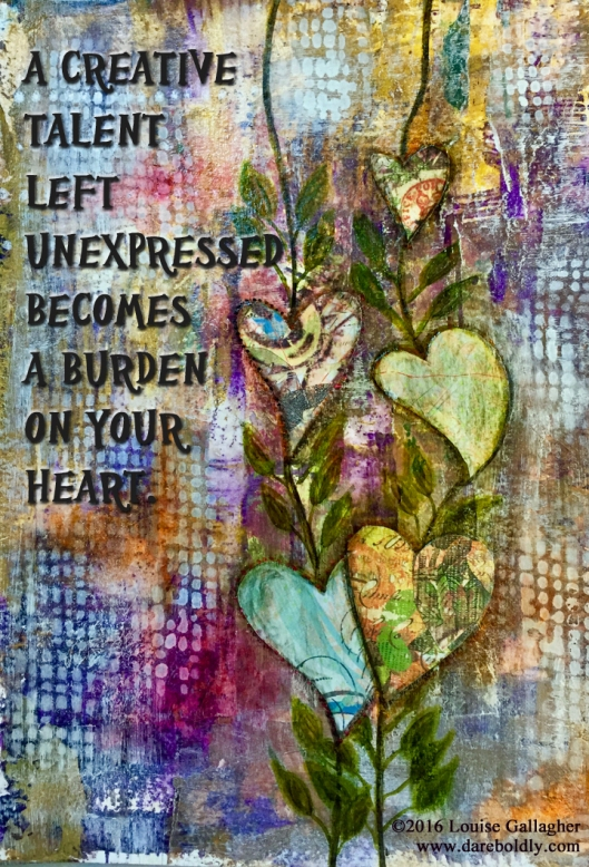 Mixed Media Art Journal Entry ©2016 Louise Gallagher